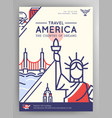 united states of america travel poster vector image