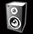 vintage audio speaker vector image