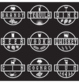 vintage labels set of alcohol drinks vector image