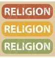 Vintage RELIGION stamp set vector image vector image
