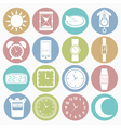 white icons time vector image