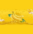 yellow drops banana tropical fruit 3d realistic vector image