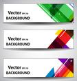 Website or Banner Header vector image