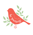 Background with bird vector image