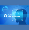 face identification system scanning modern access vector image
