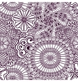 Seamless zenart pattern based on Indian henna vector image
