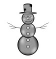 snowman sign icon vector image