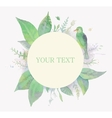 Watercolor frame for text with leaves and bird vector image