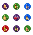 Alcohol set icons in flat style Big collection of vector image vector image