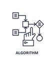 algorithm line icon concept algorithm vector image vector image