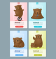 Animal banner with Bears for web design 1 vector image vector image