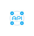 api icon application programming interface vector image vector image