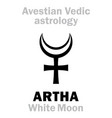 astrology astral planet artha white moon vector image vector image