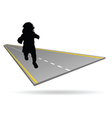 baby on the road vector image vector image