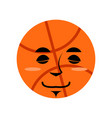 basketball sleep emoji ball sleeping emotion vector image vector image