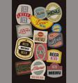 beer menu design with retro labels vector image