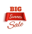 Big summer sale poster template vector image vector image