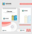 book and pencil logo calendar template cd cover vector image vector image