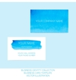 Business identity collection Blue and turquoise vector image vector image