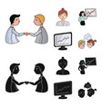 businesswoman growth charts brainstorming vector image vector image