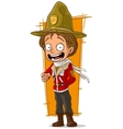 Cartoon standing canadian ranger in hat vector image vector image