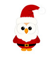 christmas owl christmas card funny owl in a suit vector image