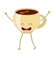 coffee hot character icon vector image