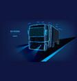 concept a successful business logistics truck vector image