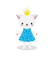 cute princess kitty vector image vector image