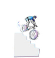 Cycling - Cyclist vector image