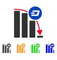 dashcoin epic fall chart icon vector image vector image