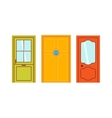 Doors isolated vector image vector image