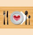 ealistic plate with spoon knife and fork and vector image