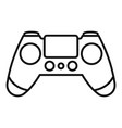 entertainment gamepad icon outline style vector image vector image