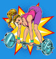 female athlete weightlifting lifting barbell vector image vector image