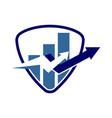 financial accounting consulting shield logo vector image vector image