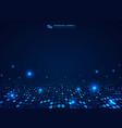 futuristic blue technology circles dot pattern vector image