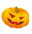 halloween pumpkin face vector image vector image