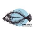 hand drawn sketch seafood vintage vector image vector image