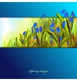 Hand drawn squill blue flowers vector image vector image