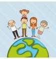 happy family design vector image vector image