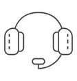 headphones with microphone thin line icon headset vector image