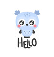 hello owl vector image vector image