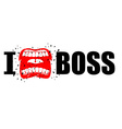 I hate boss shout symbol of hatred and antipathy vector image vector image