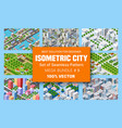 isometric set blocks module areas vector image vector image