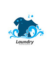 laundry logo icon design vector image vector image