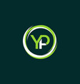 letter yp circle creative business logo vector image vector image