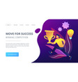 move for success and winning competition landing vector image vector image