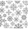 pattern monochrome with ice crystals vector image