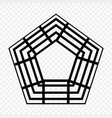 pentagon icon geometry pentagonal five-sided vector image vector image